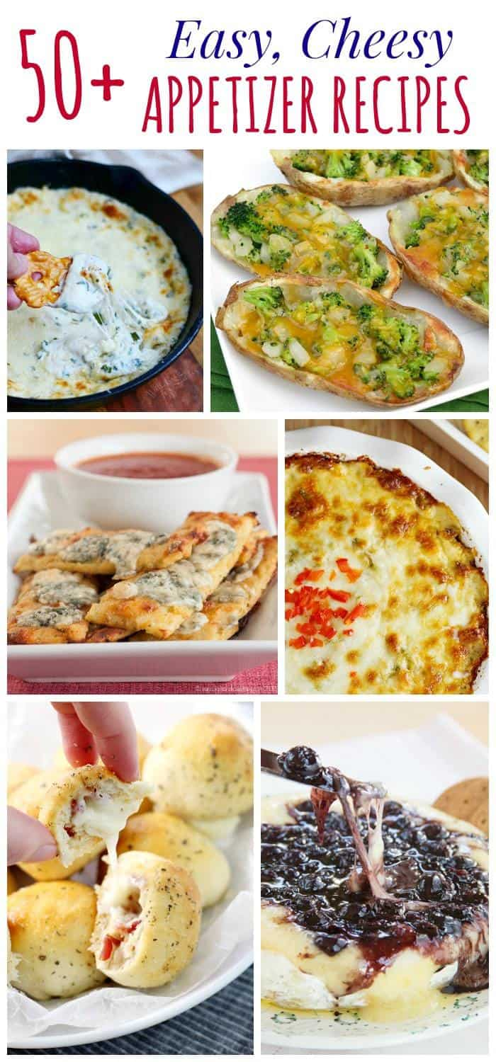 Over 50 Easy Cheesy Appetizer Recipes - from elegant to ooey gooey, everything you need for a holiday party, tailgate, or watching the big game at home. Dips, finger food, and much more! | cupcakesandkalechips.com