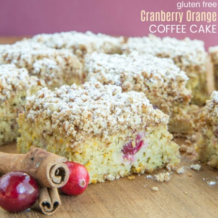 Gluten Free Cranberry Orange Coffee Cake