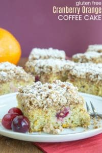 Gluten Free Cranberry Orange Coffee Cake Recipe