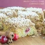 Gluten Free Cranberry Orange Coffee Cake and #ChristmasWeek Giveaway!