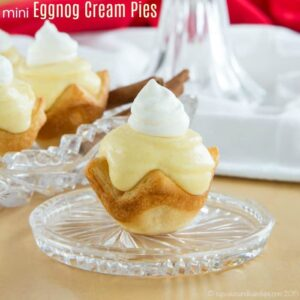Mini Eggnog Cream Pies