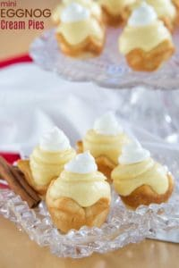 Mini Eggnog Cream Pies Recipe