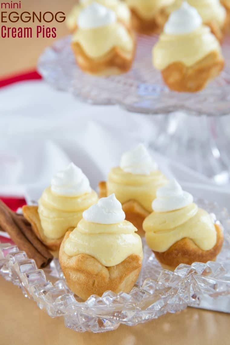 Mini Eggnog Cream Pies Recipe