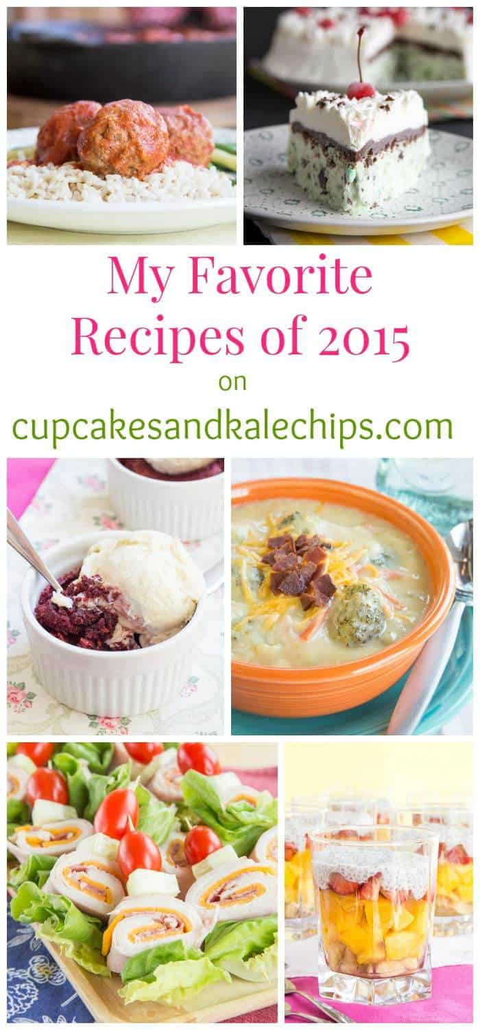 My Favorite Recipes of 2015 on cupcakesandkalechips.com - the five sweet recipes and five savory recipes that may not have been the most popular this year on Cupcakes & Kale Chips, but I simply LOVED!