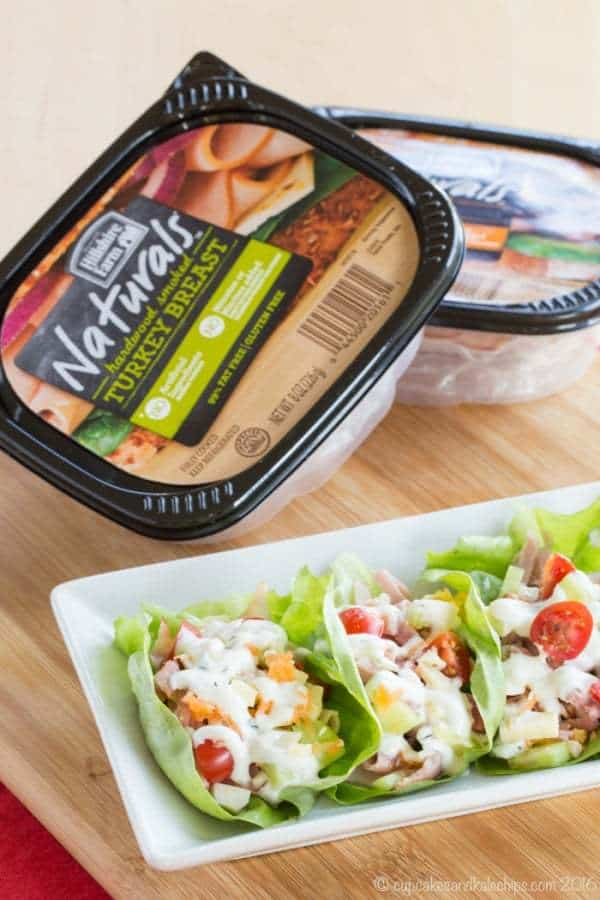 Chef's Salad Lettuce Wraps - turning your favorite salad recipe into finger food makes it even more fun and delicious with #HillshireFarmNaturals! #ad   cupcakesandkalechips.com   gluten free, grain free, low carb