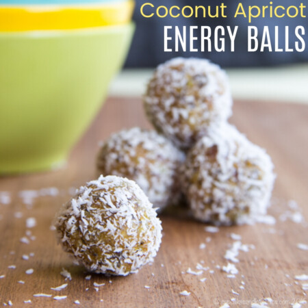 Coconut Apricot Energy Balls Recipe Featured Image