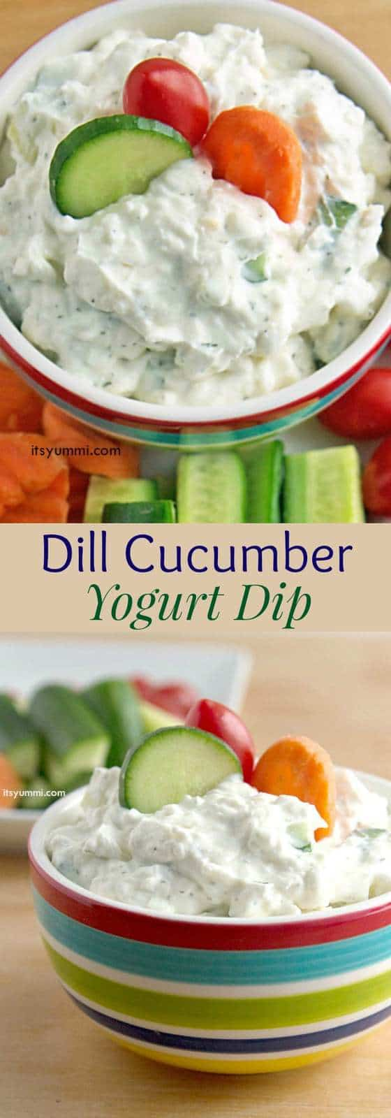Creamy Dill Cucumber Yogurt Dip - Cupcakes & Kale Chips