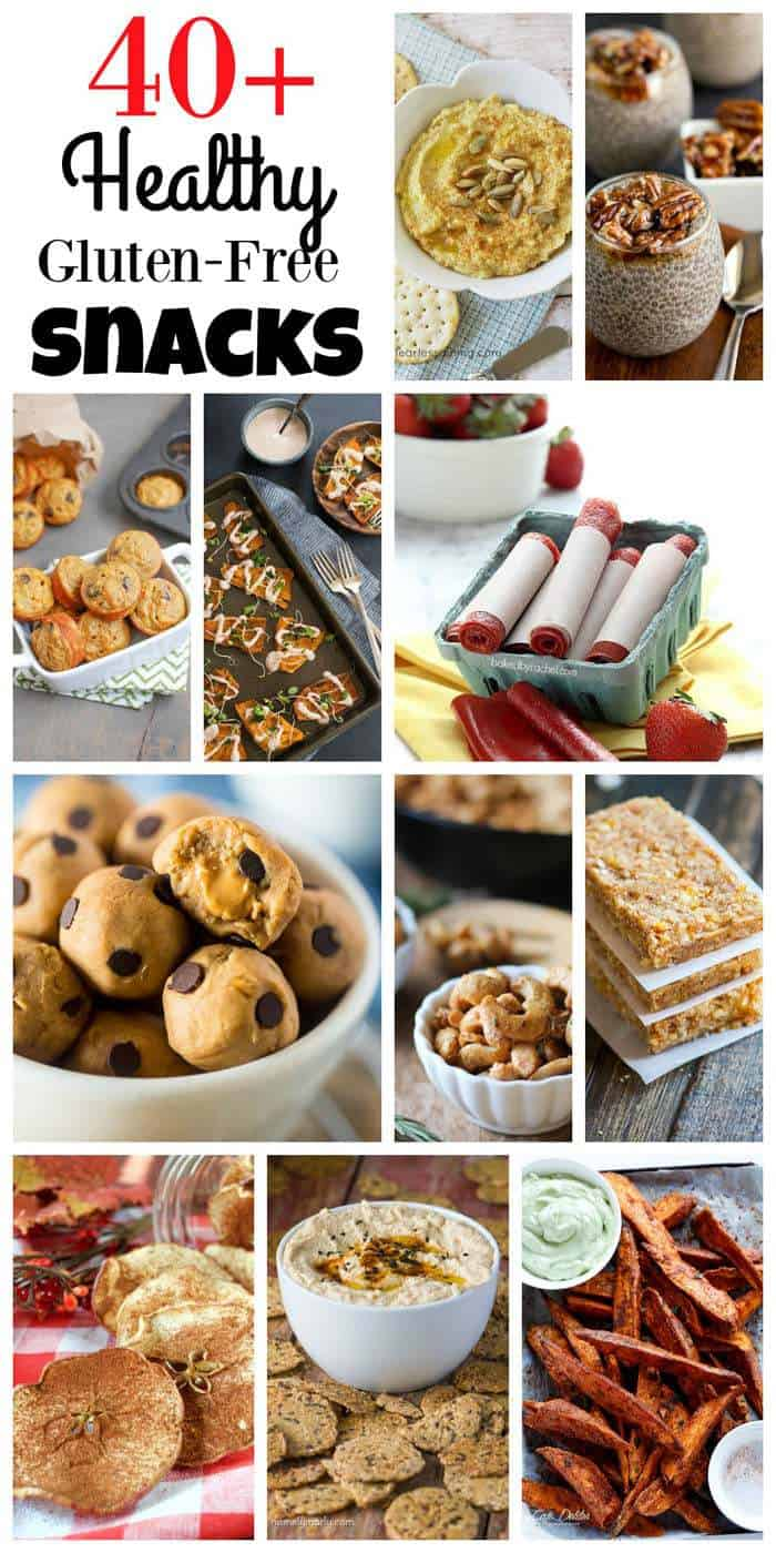 Over 40 Healthy Gluten Free Snack Recipes - from sweet to savory, healthy snacks can still be easy and delicious. | cupcakesandkalechips.com