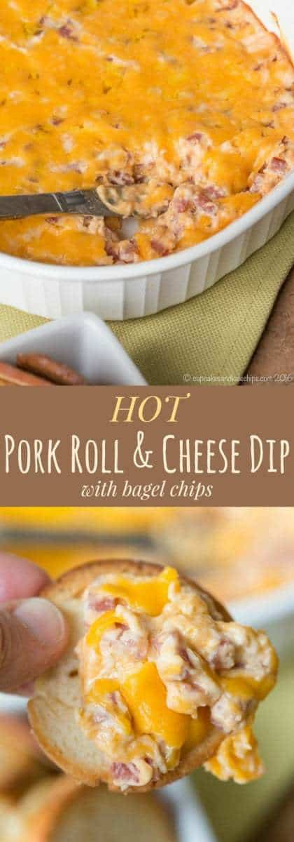 Hot Pork Roll and Cheese Dip - the New Jersey Diner classic becomes a fun party appetizer in this cheesy dip recipe.   cupcakesandkalechips.com   gluten free recipe