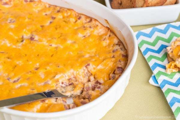 Hot Pork Roll and Cheese Dip - the New Jersey Diner classic becomes a fun party appetizer in this cheesy dip recipe. | cupcakesandkalechips.com | gluten free recipe