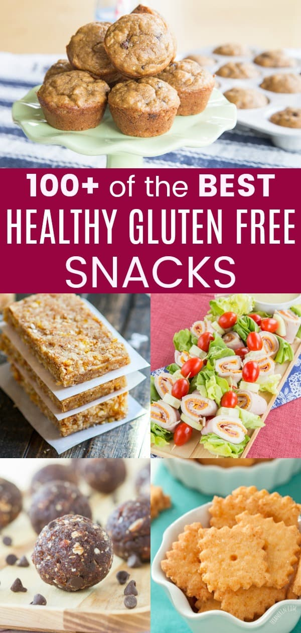 Collage of some of the Best Healthy Gluten Free Snacks