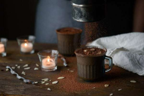 Warm Hot Chocolate Smoothie - the perfect recipe when it's cold outside but you want the nutrition of a green smoothie.