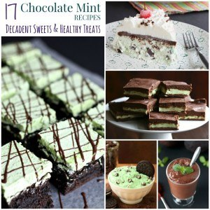 Chocolate Mint Recipes Collage FB