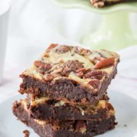 Flourless Turtle Cheesecake Brownies