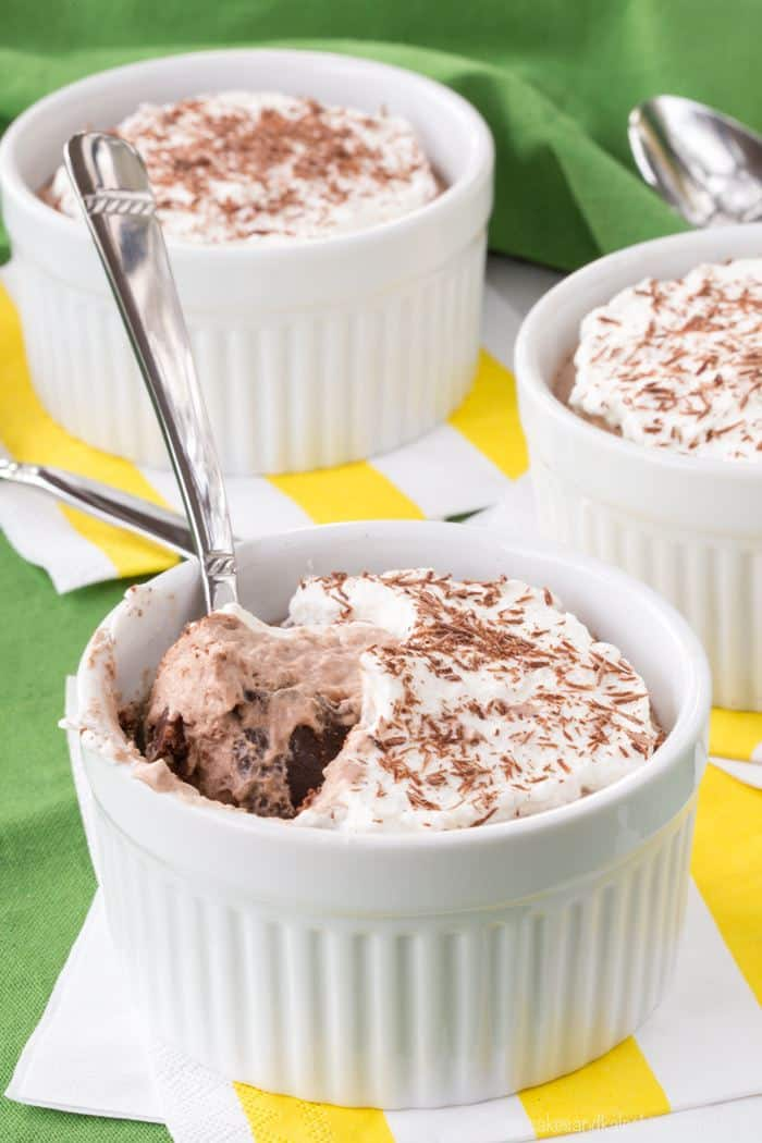 Mini Irish Cream Chocolate Mousse Pies