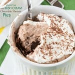 Gluten Free Mini Irish Cream Chocolate Mousse Pies