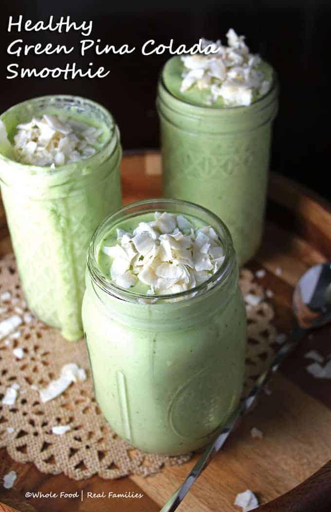Healthy Green Pina Colada Smoothie