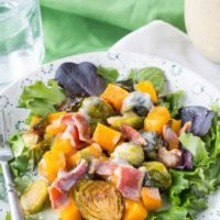 Roasted Brussels Sprouts Butternut Squash Salad