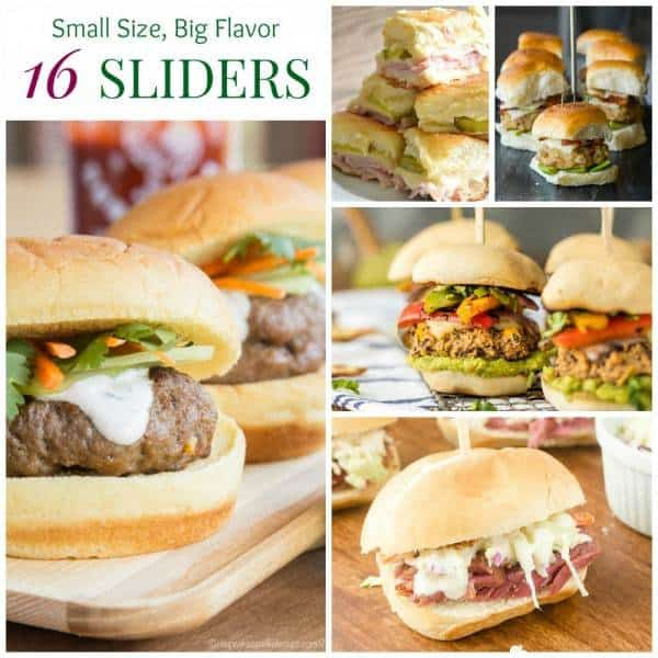 Sliders Recipes Collage FB