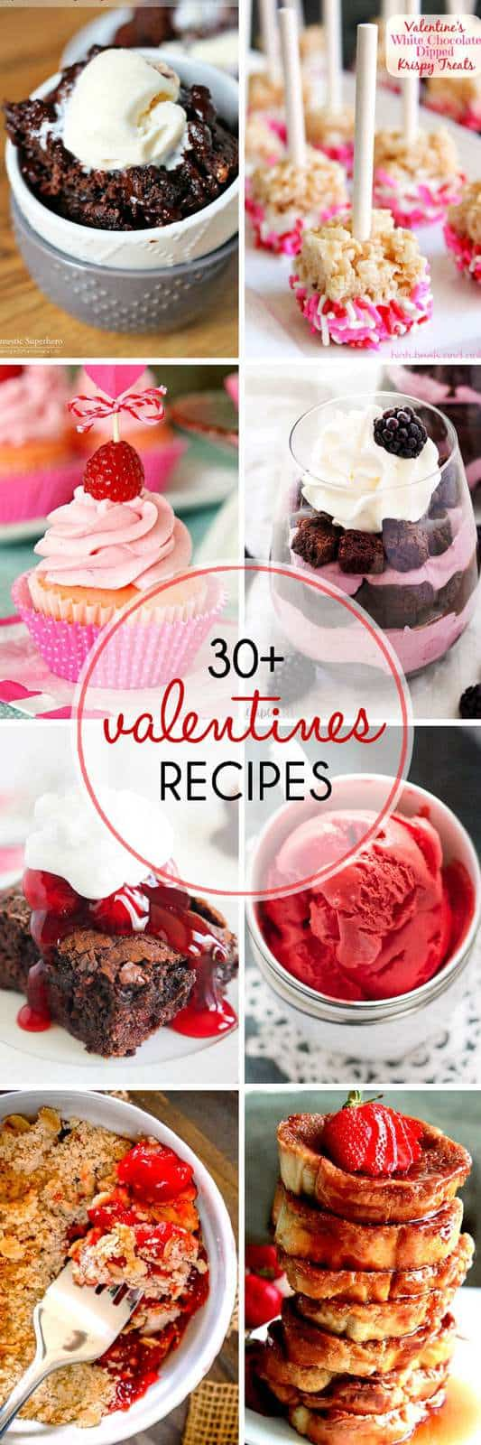 30+ of The Best Valentine's Day Recipes - cupcakes, cookies, brownies, cakes, and more in our favorite valentine flavors like chocolate, raspberry, and red velvet. | cupcakesandkalechips.com