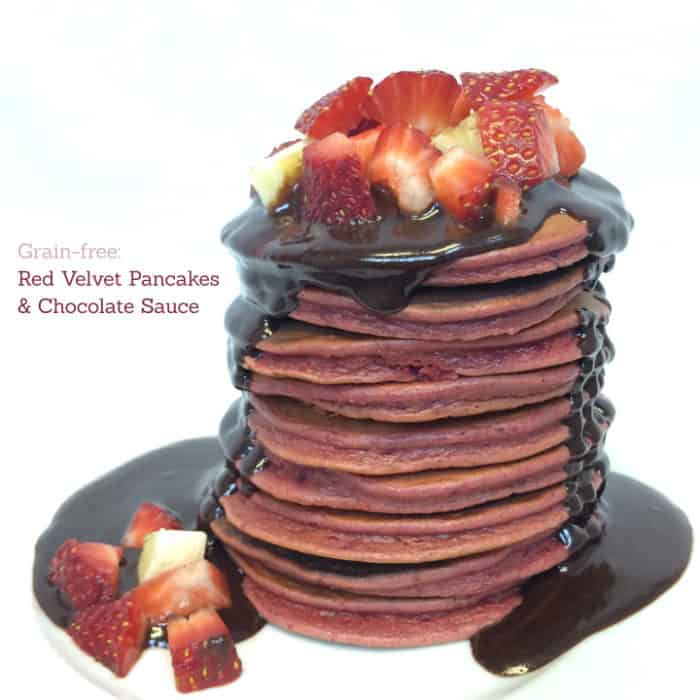 grain free red velvet pancakes