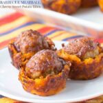 Barbecue Meatball Cheesy Sweet Potato Bites recipe-5796 title