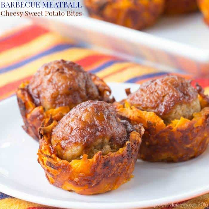 Barbecue Meatball Cheesy Sweet Potato Bites