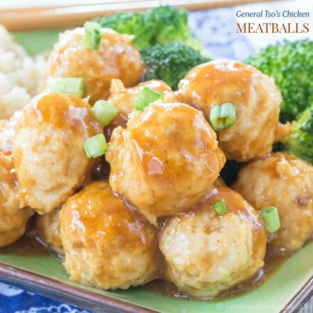 Baked General Tso's Chicken Meatballs Recipe