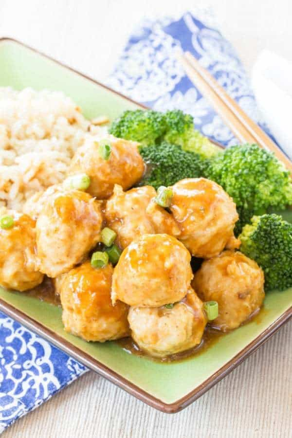 Baked General Tso Chicken Meatballs