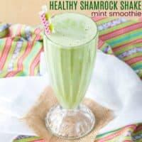 Healthy Shamrock Shake Smoothie