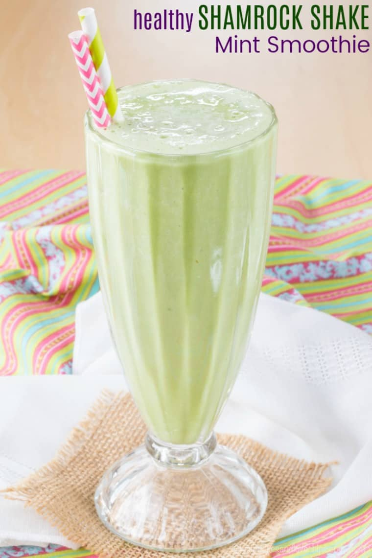 Healthy Shamrock Shake Mint Smoothie Recipe
