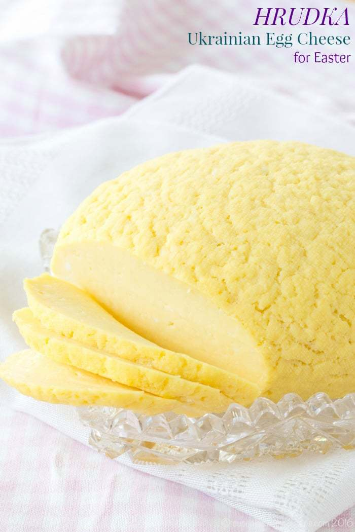 Hrudka - Ukrainian Easter cheese made from eggs