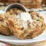 Browned Butter Banana Nut Chocolate Chip Muffins