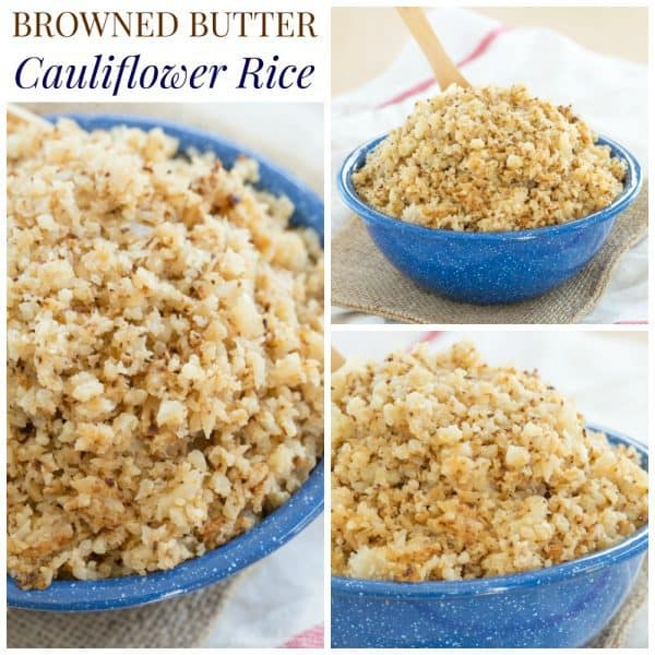 Browned Butter Cauliflower Rice - a simple, family favorite side dish recipe that is super easy, naturally gluten free, low carb, and paleo-friendly | cupcakesandkalechips.com