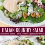 Italian Country Salad Pinterest Collage
