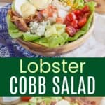 Lobster Cobb Salad Collage Pin