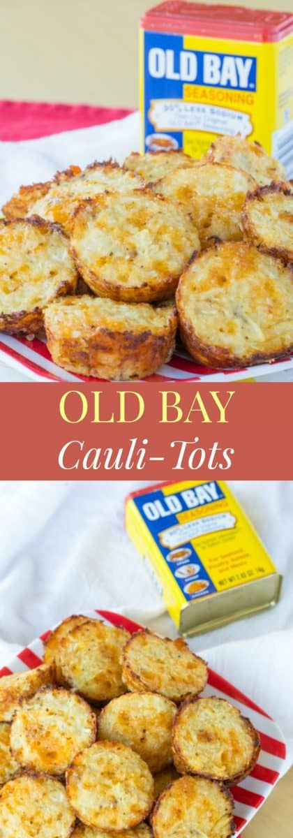 Old Bay Cauli-Tots - add a bit of this favorite Maryland spice to the classic cheesy cauliflower tots recipe. | cupcakesandkalechips.com | gluten free