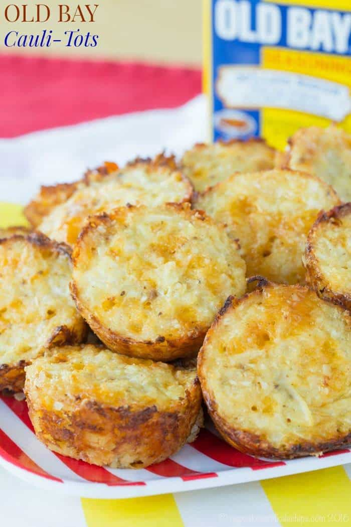 Old Bay Cauli-Tots - add a bit of this favorite Maryland spice to the classic cheesy cauliflower tots recipe.   cupcakesandkalechips.com   gluten free