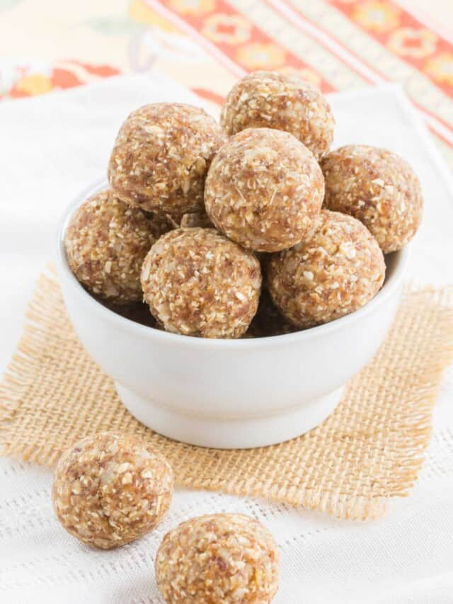 Pineapple coconut energy balls - just one of the recipes for healthy no-bake snacks kids love to find in their school lunch or as an after school snack.