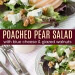 Poached Pear Salad Pinterest Collage
