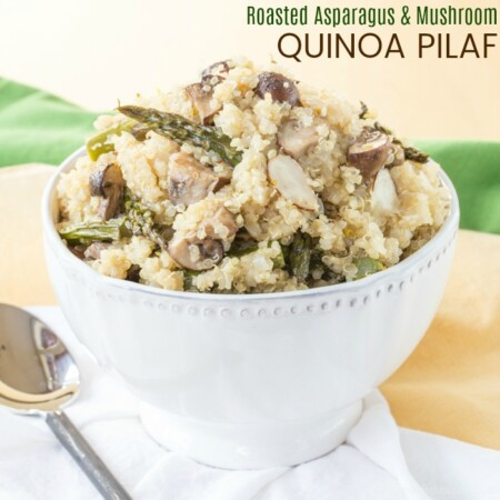 Roasted Asparagus and Mushroom Quinoa Pilaf square featured image