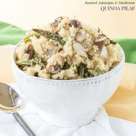 Roasted Asparagus and Mushroom Quinoa Pilaf