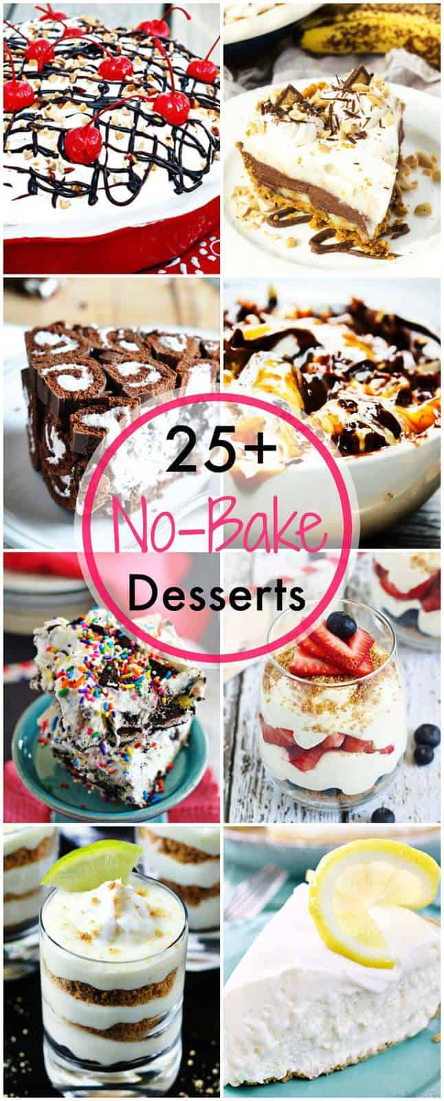 Over 25 of The Best No-Bake Dessert Recipes - pies and parfaits, bars and bites, and more sweet treats that don't need an oven. Perfect for warm summer days! | cupcakesandkalechips.com