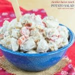 Cheddar Bacon Ranch Potato Salad for #SundaySupper