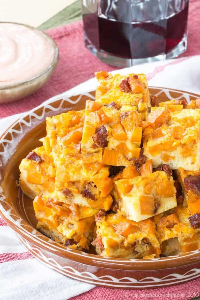 Spanish Chorizo Sweet Potato Tortilla Bites