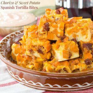 Chorizo Sweet Potato Spanish Tortilla Bites recipe