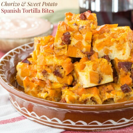 Chorizo Sweet Potato Spanish Tortilla Bites recipe