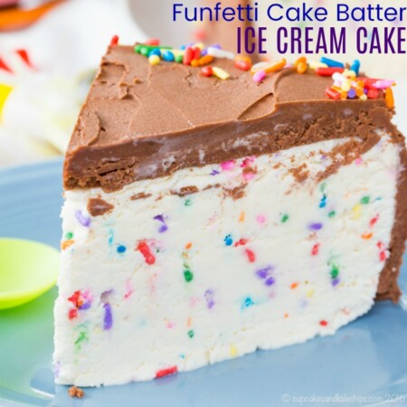 Gluten Free Funfetti Cake Batter Ice Cream Cake