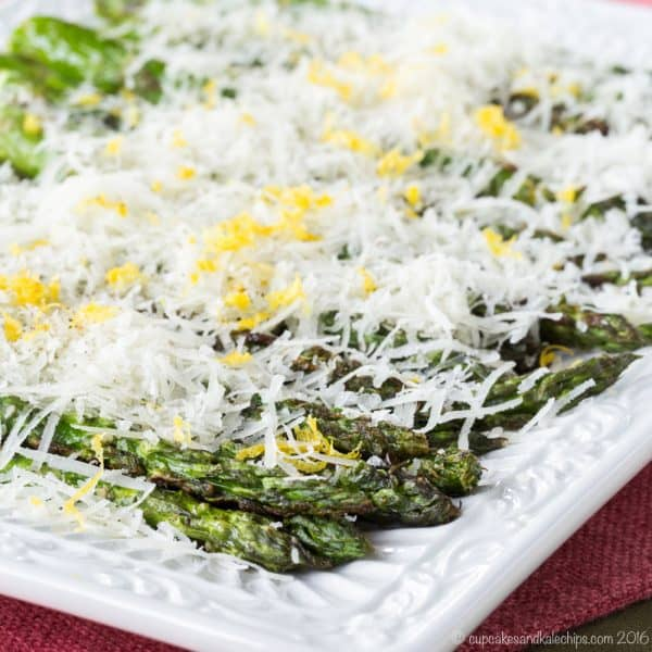 How to Grill Asparagus with Lemon and Manchego Cheese