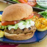 Peruvian Turkey Burgers with Aji Sauce